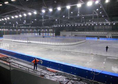 Tor łyżwiarki w Tomaszowie Mazowieckim z lodowiskiem hokejowym